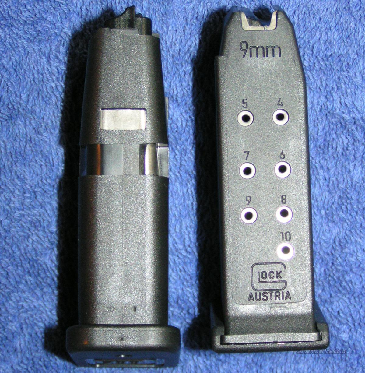 2 Glock 26 mags 9mm 10 round factory. New $19 each  Non-Guns > Magazines & Clips > Pistol Magazines > Glock