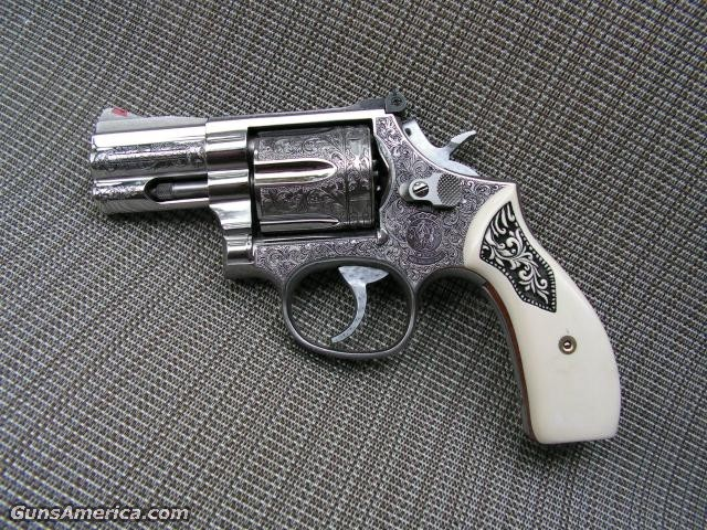 S&W 686 Engraved  Guns > Pistols > Smith & Wesson Revolvers