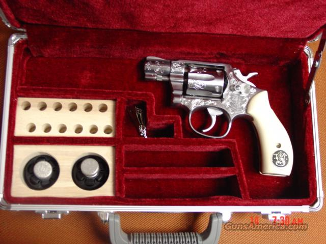 "Smith & Wesson 2"" model 64-4,1988,stainless,engraved,in custom alum case,ivory looking grips  Guns > Pistols > Smith & Wesson Revolvers > Pocket Pistols"