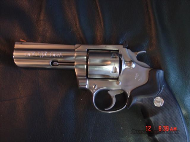 "Colt King Cobra 4"" satin Stainless with holster,very clean & used  Guns > Pistols > Colt Double Action Revolvers- Modern"