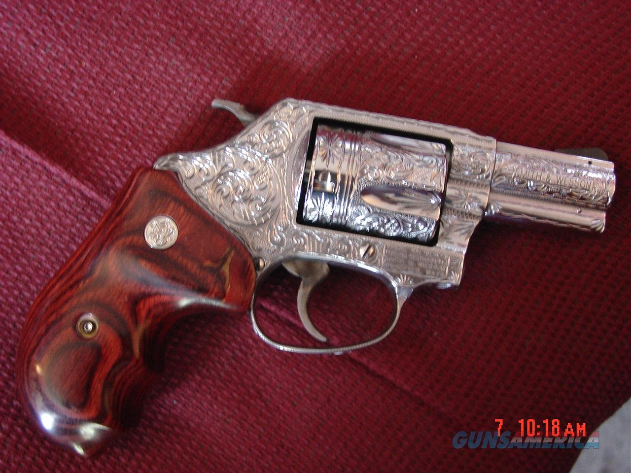 "Smith & Wesson 60-14,357 mag,2.125"" barrel,fully deep hand engraved & polished by Flannery engraving,rosewood grips,never fired,box & papers-awesome showpiece !!  Guns > Pistols > Smith & Wesson Revolvers > Small Frame ( J )"