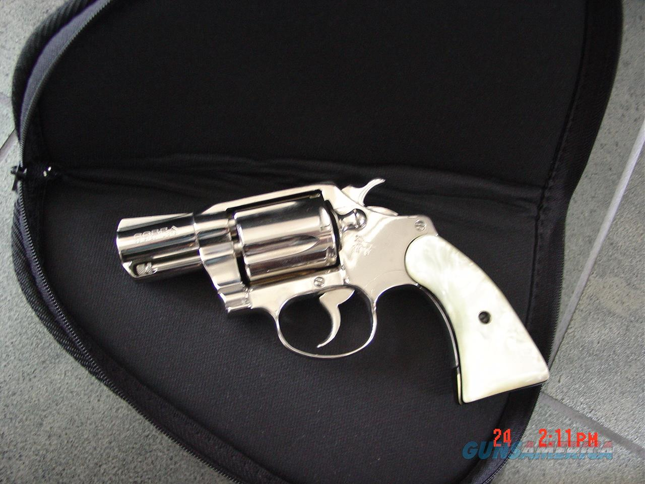 "Colt Cobra 2"" barrel,38 Special,bright mirror nickel,Pearlite grips, made in 1978,super nice-a real showpiece !!  Guns > Pistols > Colt Double Action Revolvers- Modern"