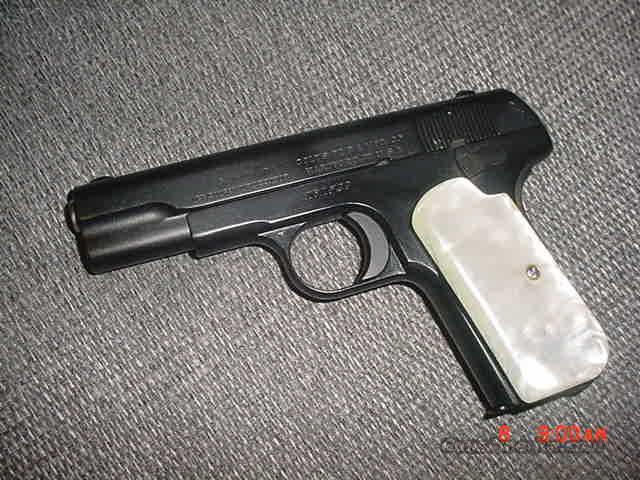 Colt 1903-32acp,hammerless,type III,custom teflon finish,pearlite grips,97 years old !!  Guns > Pistols > Colt Automatic Pistols (.25, .32, & .380 cal)