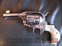 "Ruger Gary Reeder Custom Bandit series,enraved,3 1/2""45LC,polished stainless,birdshead grip frame,Mongolian Stag grips,action job,etc  Custom Pistols > Cowboy Action"