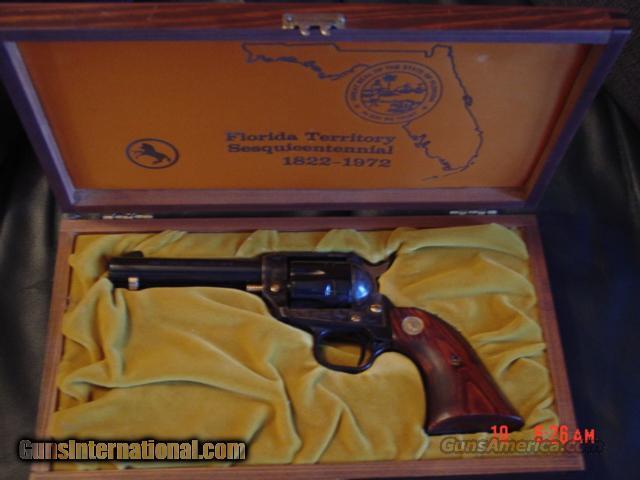 "Colt 22LR single action,4 3/4"",1972,Florida Territory commemorative,liike new in pres.case  Guns > Pistols > Colt Commemorative Pistols"