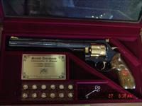 "Dan Wesson,Second Amendment Commemorative 44 magnum,scroll engraved,gold accents 9"" barrel,wood & glass pres. case,unfired  Dan Wesson Pistols/Revolvers > Revolvers"