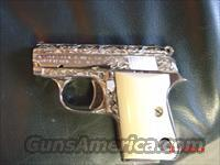 Colt Auto 25,nickel,fully engraved,REAL IVORY grips,made in 1970,nickel mag,#0D04253  Colt Automatic Pistols (.25, .32, & .380 cal)