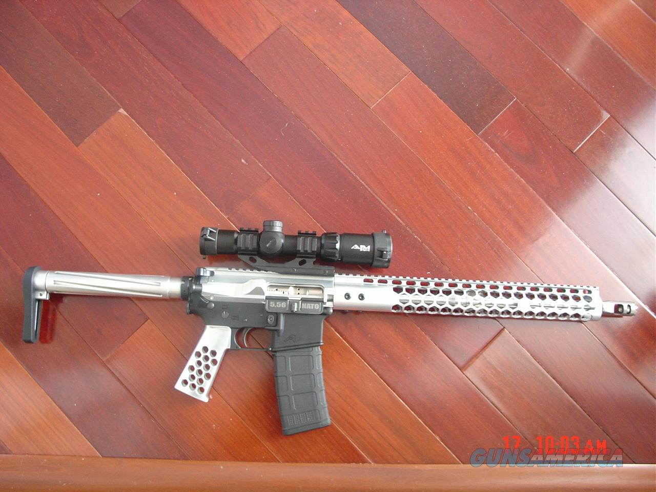 "Aero Precision X15 multi caliber,556 or 223,all aluminum,stainless or nickel, nice tri illuminated scope,16"",never fired,awesome showpiece !!  Guns > Rifles > AR-15 Rifles - Small Manufacturers > Complete Rifle"