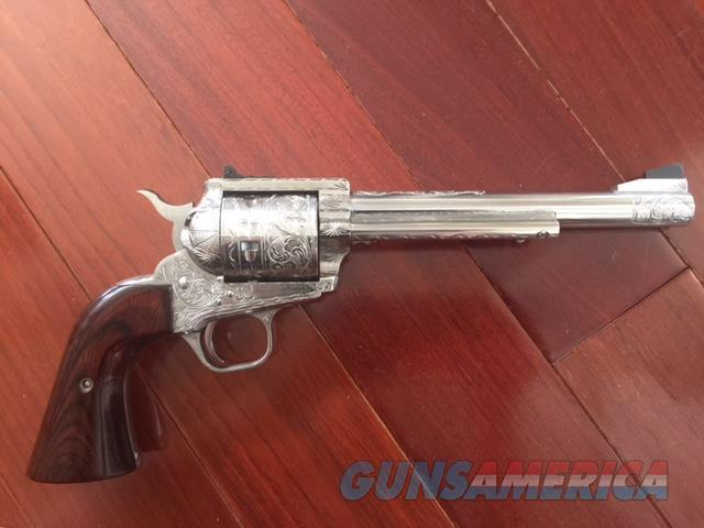 "Freedom Arms Premier Grade model 83,engraved & polished by Flannery Engraving,7 1/2"" 454 Casull,both grips,box,target,manual,certificate,& more.1 of a kind work of art !!  Guns > Pistols > Freedom Arms Pistols"