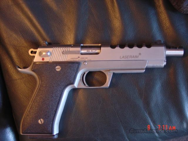 "Laser Aim Arms 6"" barrel,ported,with 5 slots,45acp,stainless,2 mags & soft case,& manual  Guns > Pistols > LaserAim Pistols"
