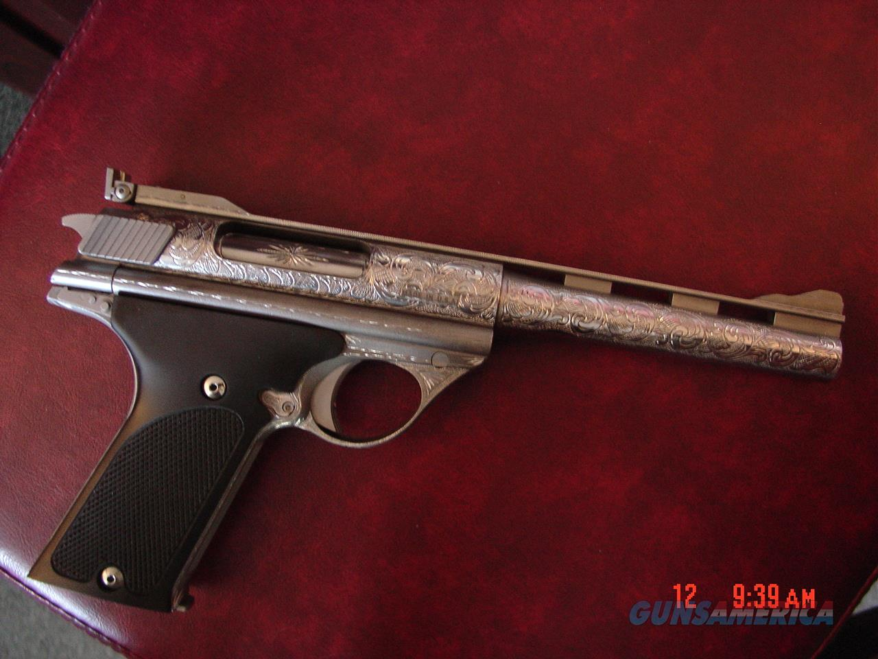 """Auto Mag 44AMT model 180,TDE,6.5"""",fully engraved by Flannery Engraving,made in 1971,certificate,original case,manual,& oil bottle.about as rare as they get ! awesome work of art.  Guns > Pistols > Auto Mag Pistols"""