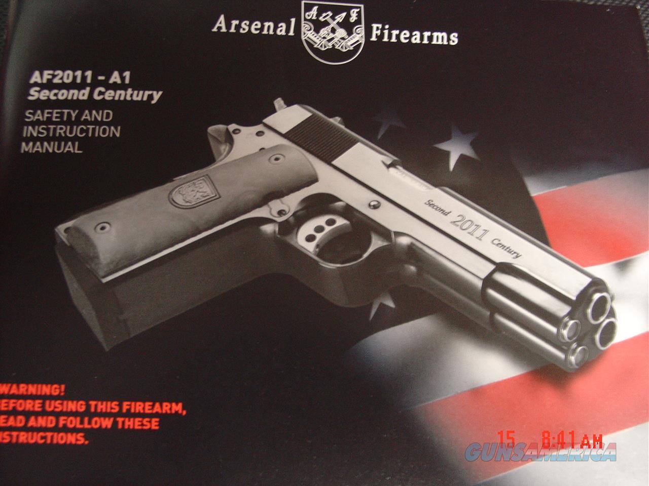 Arsenal Firearms,rare double barrel 9mm, 16 shots, 2 mags,walnut grips,  Guns > Pistols > 1911 Pistol Copies (non-Colt)