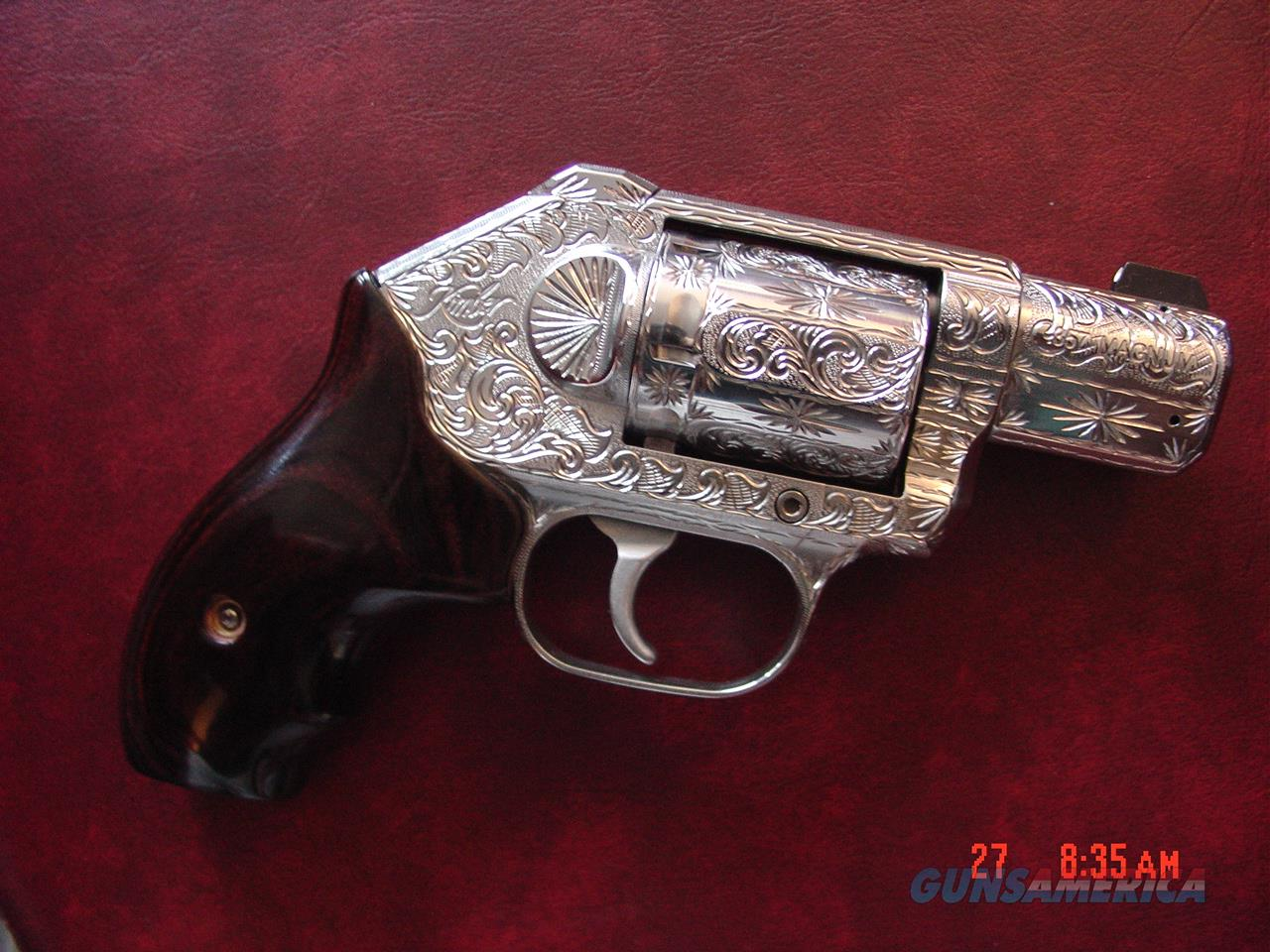 "Kimber K6S 357 mag, 2"" barrel,hammerless, fully engraved & polished by Flannery Engraving, Rosewood grips, certificate,1 of a kind work of art !!awesome carry pistol !!  Guns > Pistols > Kimber of America Pistols > Revolvers"