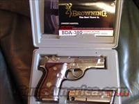Browning BDA 380 auto,nickle,2 mags,original box & manual,wood grips,like new !  Guns > Pistols > Browning Pistols > Other Autos