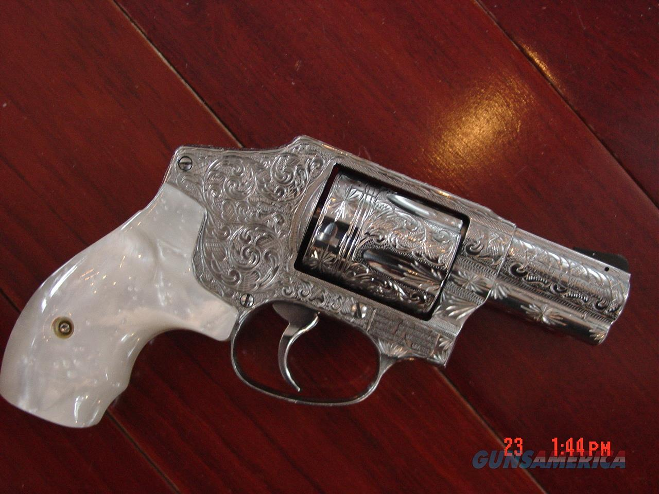 "Smith & Wesson 640-3,357MAG,fully deep hand engraved by Flannery Engraving,Pearlite grips,2.125"",never fired,a true work of art pocket cannon !!  Guns > Pistols > Smith & Wesson Revolvers > Pocket Pistols"
