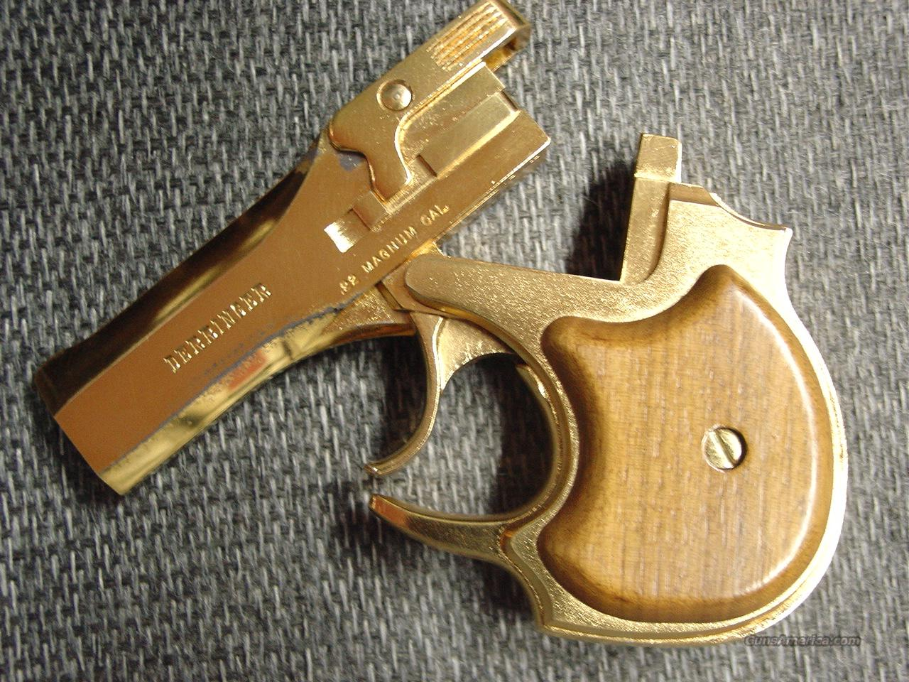 High Standard Gold Presentation Derringer,22 magnum,made,around 1978,box,& papers-unique  Guns > Pistols > High Standard Pistols