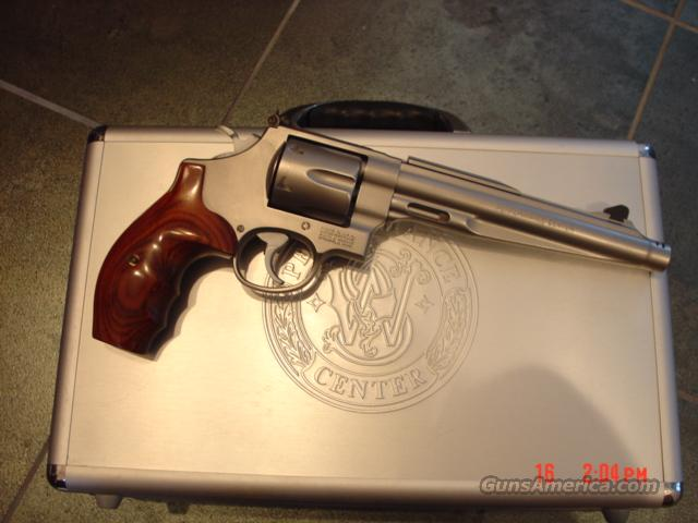 "Smith & Wesson 629-8 Performance Center, 44 mag,7 1/2"".built on compensator,alum custom case,rosewood grips,rubber grips,manual,a real beauty !!  Guns > Pistols > Smith & Wesson Revolvers > Performance Center"