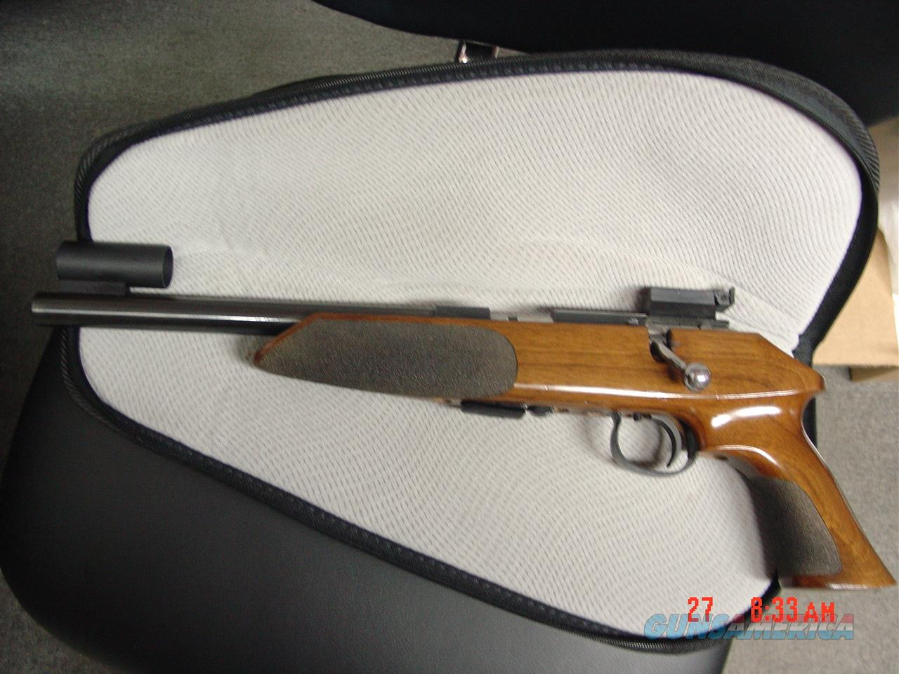 "Anschutz Exemplar 22LR, 5 shot bolt action, 10"" barrel, Bo-Mar rear site,& hooded front site,full wood stock, hair trigger & super accurate ! awesome pistols & fun to shoot !!  Guns > Pistols > Anschutz Pistols"
