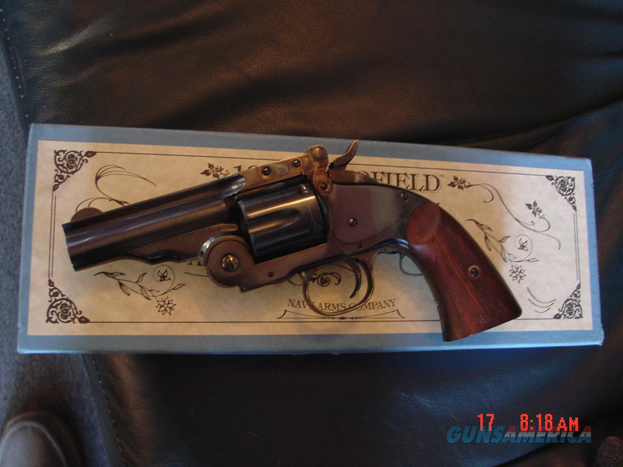 """Navy Arms/Uberti Schofield 1875 Hideout, 3 1/2"""" 45 LC, break open, 6 shots, original box,looks maybe test fired only.super nice revolver, nice wood grips  Guns > Pistols > Navy Arms Pistols"""