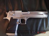 Desert Eagle,Magnum Research,hand cannon,44 magnum,custom satin stainless looking finish,2-8 round mags,& made in the USA !!  Guns > Pistols > Magnum Research Pistols