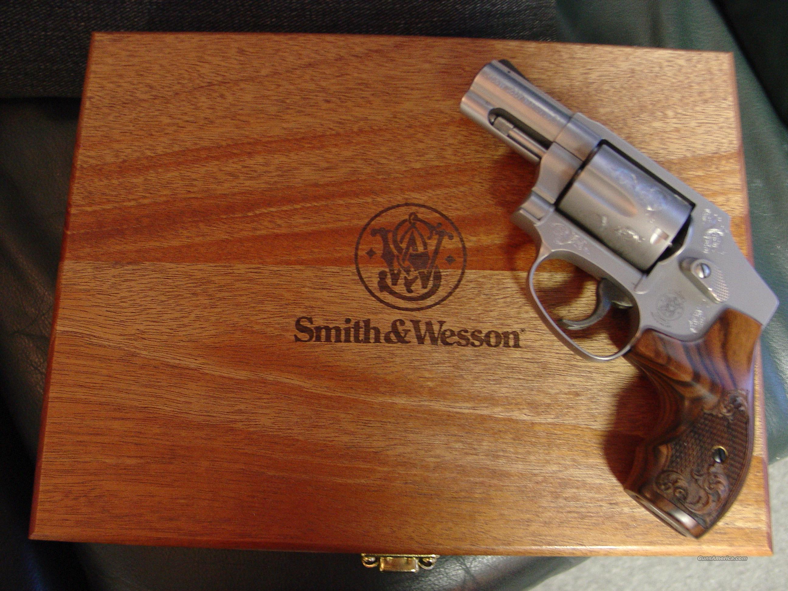 """Smith & Wesson 640-1,357 Magnum,2.125"""" barrel,factory engraved,satin stainless,double action only,Rosewood finger groove grips,locking wood Presentation case,all boxes,manual,lock etc.great looking pocket revolver  Guns > Pistols > Smith & Wesson Revolvers > Pocket Pistols"""