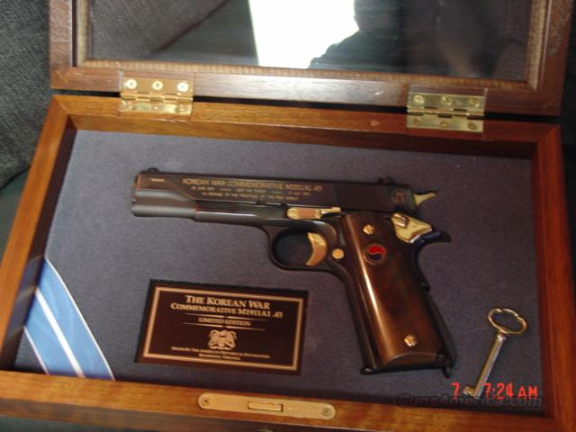 Colt 1911 styled/Auto Ordnance Korean War Commemorative,engraved,in pres case  Guns > Pistols > Auto Ordnance Pistols
