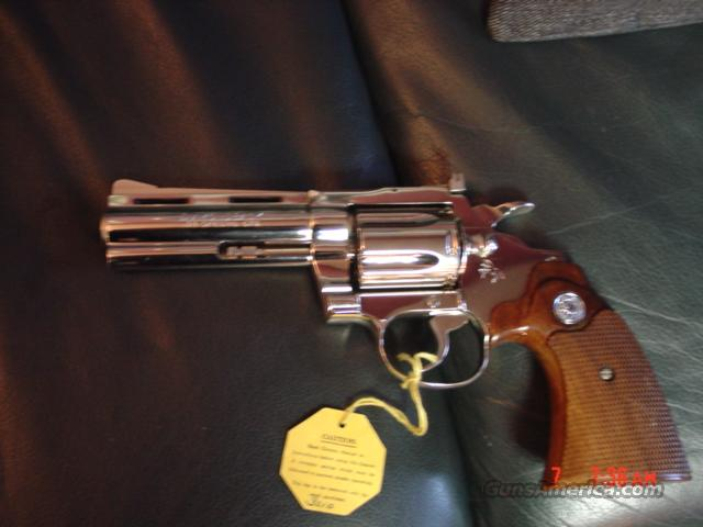 "Colt Diamondback nickel,4"",38 special,1976,in original box with papers  Guns > Pistols > Colt Double Action Revolvers- Modern"