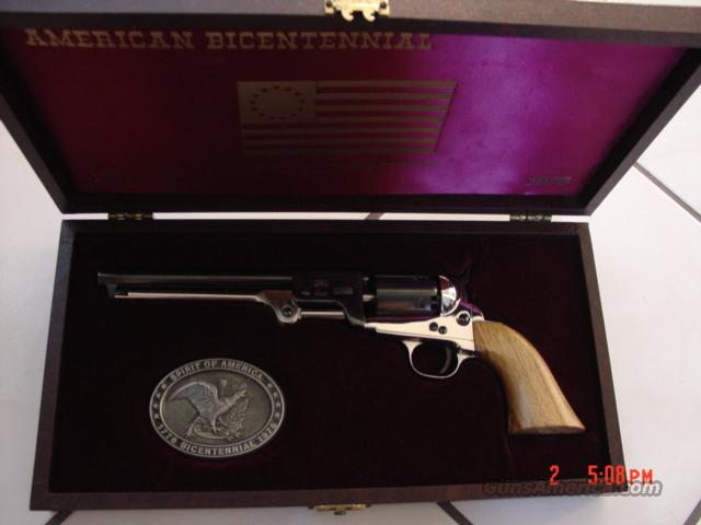 "High Standard black powder 36 caliber,American Bicentennial,engraved,7 1/2"" barrel,in pres. case  Guns > Pistols > Custom Pistols > Other"