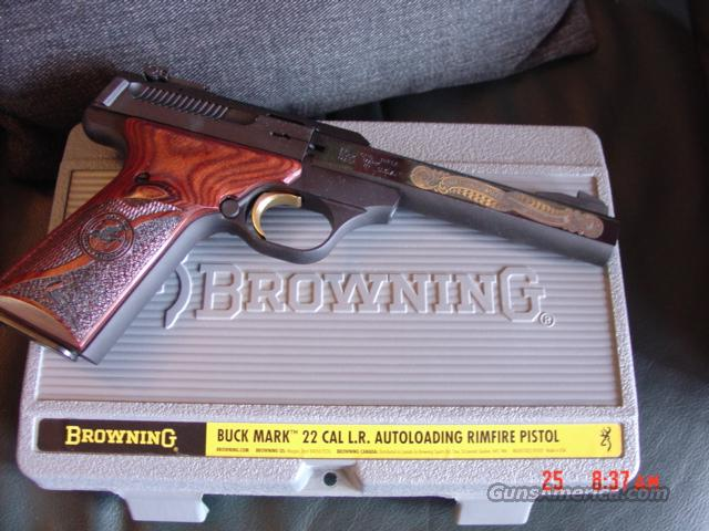 Browning Buckmark,Rare National Wild Turkey Federation,gold engraved,22LR,pres.case  Guns > Pistols > Browning Pistols > Buckmark