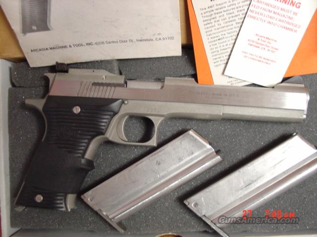 "AMT Automag II,22 magnum,6"", 2 mags,box,manual,stainless  Guns > Pistols > AMT Pistols > 1911 copies"