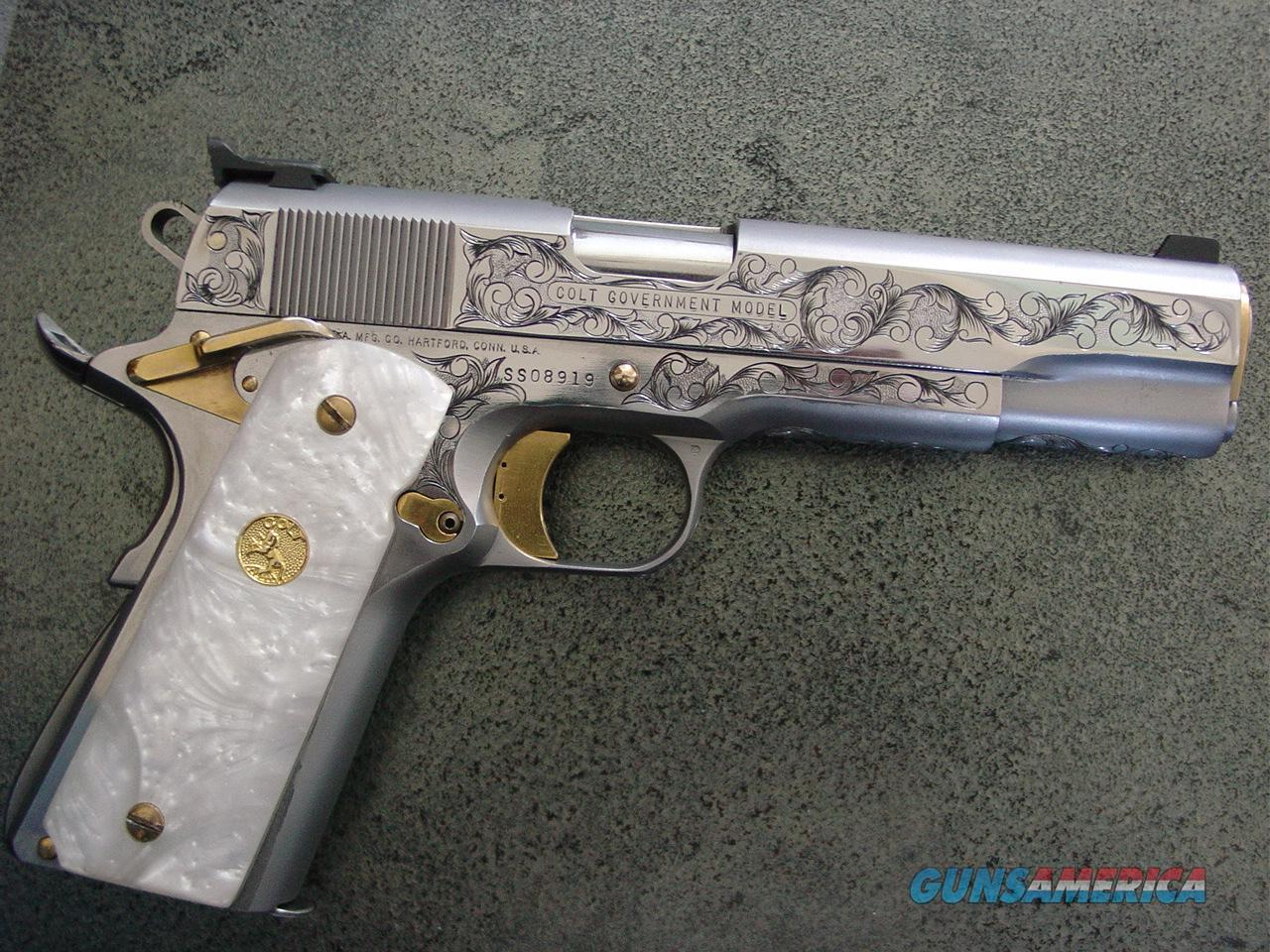 Colt 1911 series 80 45acp master engraved by ken smith of florida