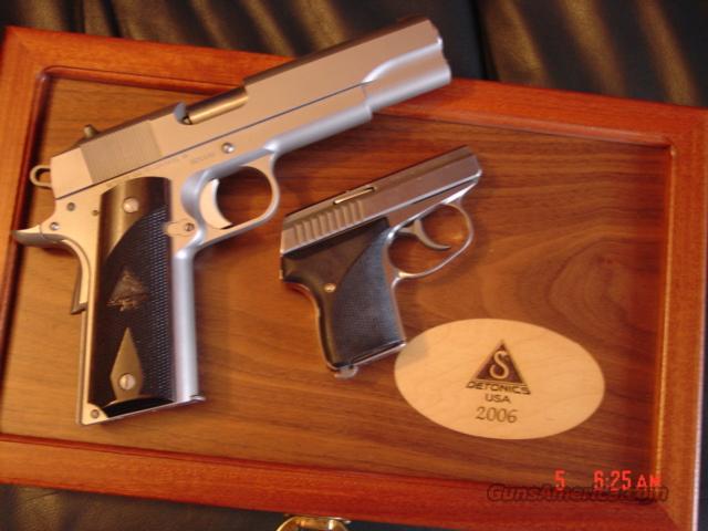 Detonics/Seecamp -RARE-9-11 Limited edition,matching serial # pair,in presentation case,45acp & 32 auto  Guns > Pistols > Detonics Pistols