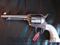 "Uberti Cattleman,1873 SAA ,satin stainless,45LC,factory engraved,5 1/2"",pearlite grips,NIB,& nicer than photos  Guns > Pistols > Uberti Pistols > Ctg."