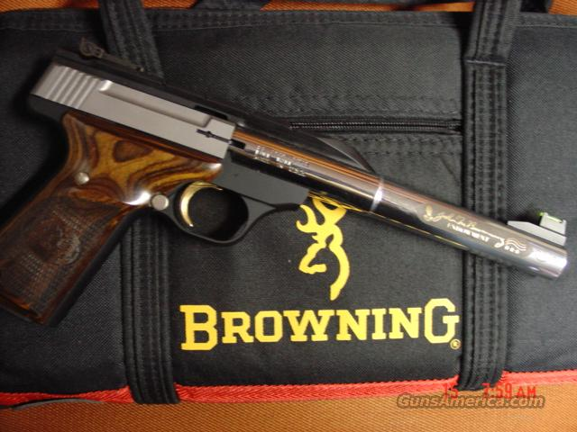 "Browning Buckmark,NRA Endowment,2 barrel set,gold engraved,5 1/2"" & 7"" 22lr,all papers,nice locking case  Guns > Pistols > Browning Pistols > Buckmark"