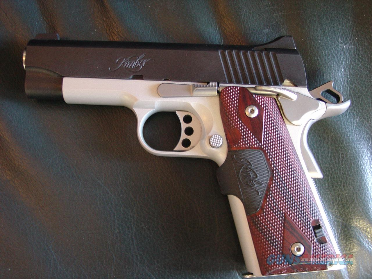 "Kimber Pro Crimson Carry II, 2 tone,45acp,rosewood Crimson Trace laser grips,,4"" barrel,custom goodies,box & papers,as new !!  Guns > Pistols > Kimber of America Pistols"