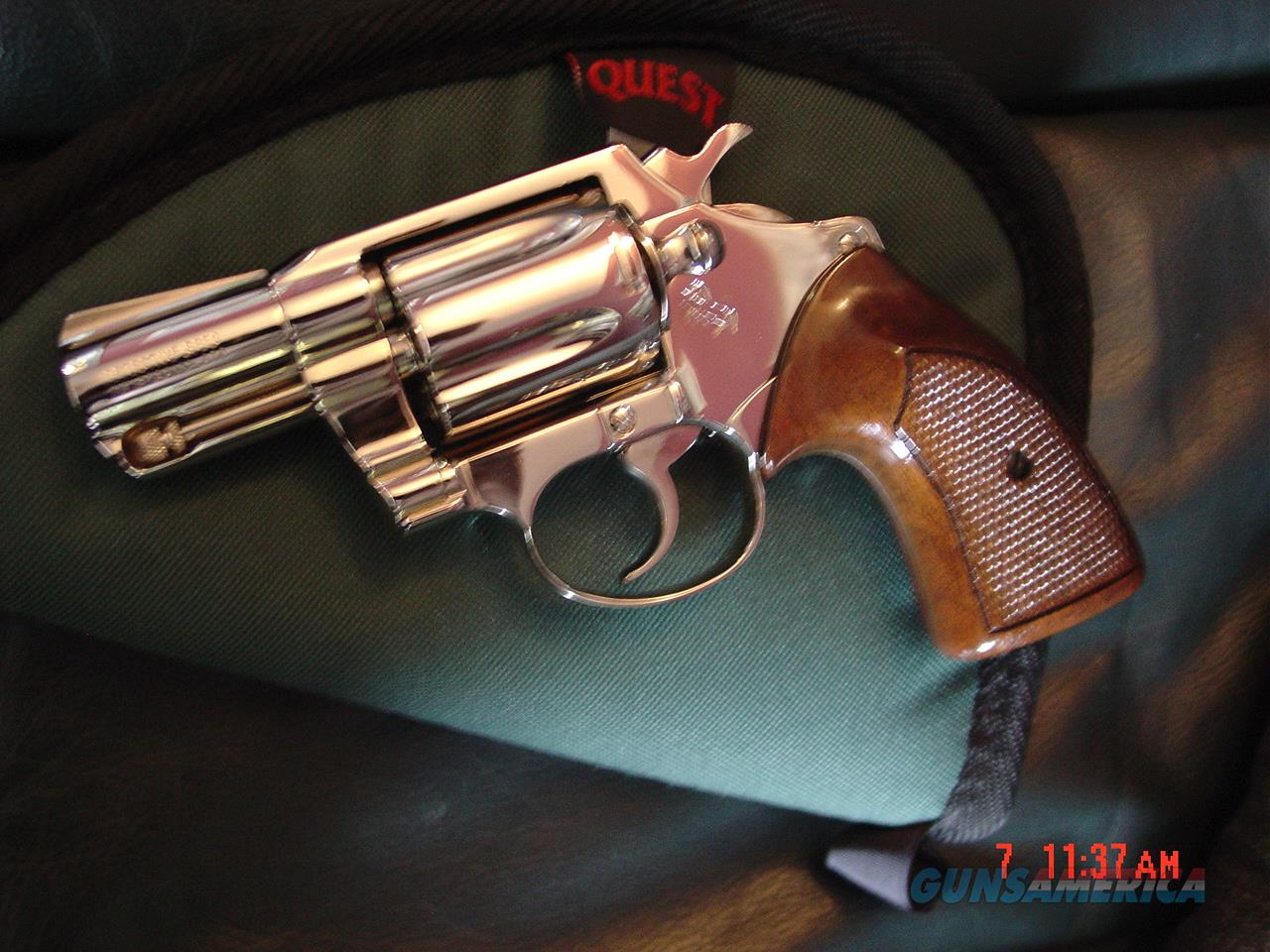 "Colt Detective Special,2"",fully refinished in bright nickel,wood grips,made in 1973,38 special,21 oz.looks like new  Guns > Pistols > Colt Double Action Revolvers- Modern"