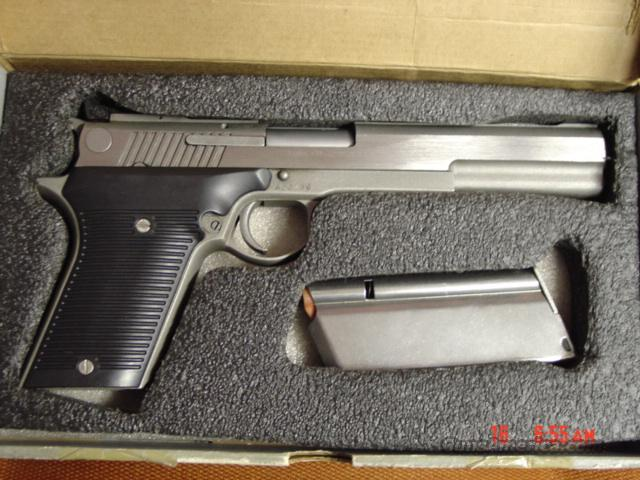 "AMT Automag III in MI .30 Carbine-rare & powerful,Hand Cannon,6 3/6"" barrel,stainless,  Guns > Pistols > AMT Pistols > 1911 copies"