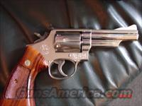 "Smith & Wesson Model 19-3, 1967,357 magnum,nickel,4""barrel,pinned,adj.rear sight,6 shot,very nice  Guns > Pistols > Smith & Wesson Revolvers > Full Frame Revolver"