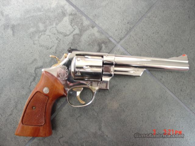"Smith & Wesson model 29-2 high gloss nickel,gold accents 6"",44 mag,box & papers-RARE !!  Guns > Pistols > Smith & Wesson Revolvers > Full Frame Revolver"