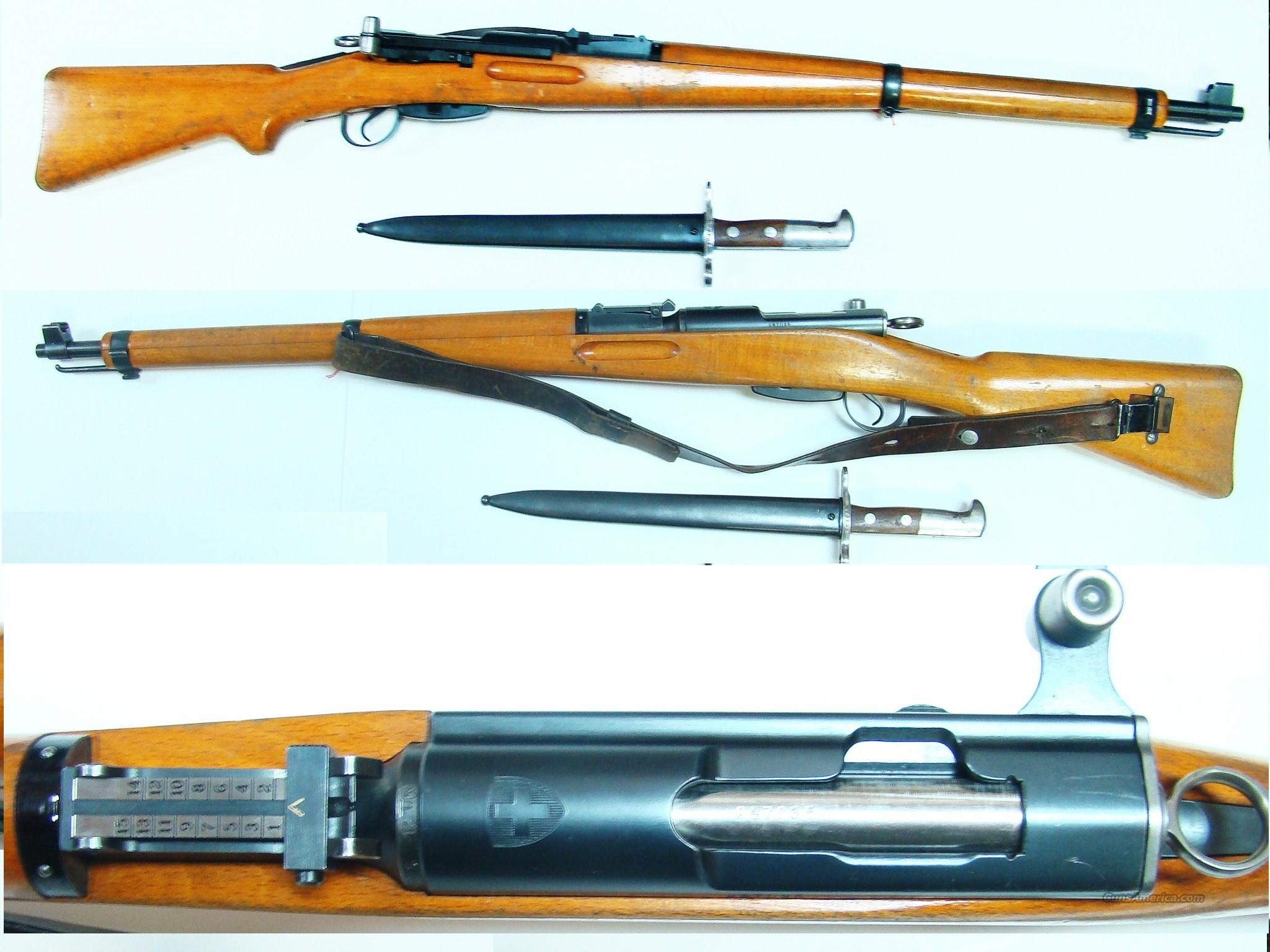 SWISS K31 AND MATCH BAYONET  Guns > Rifles > Military Misc. Rifles Non-US > Shmidt Rubin