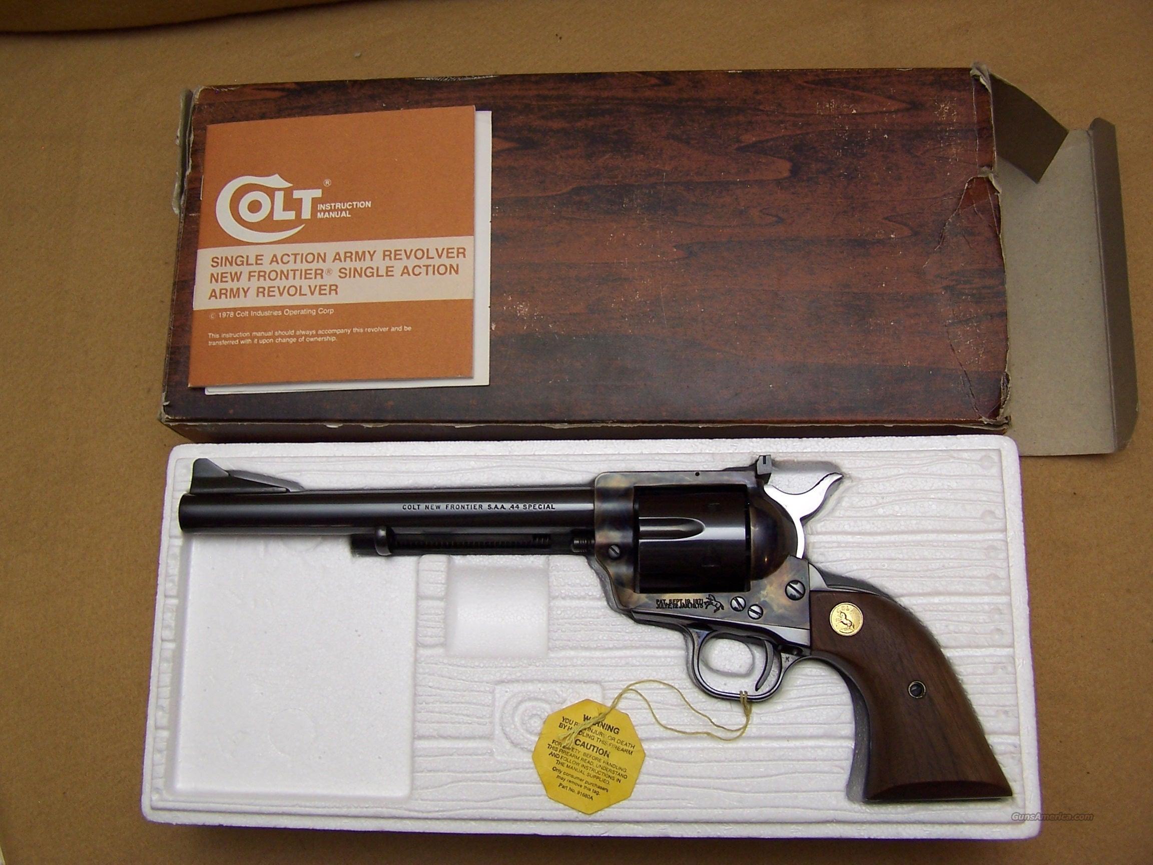 "Colt ""NEW FRONTIER"" 44SPL  Guns > Pistols > Colt Single Action Revolvers - 3rd Gen."