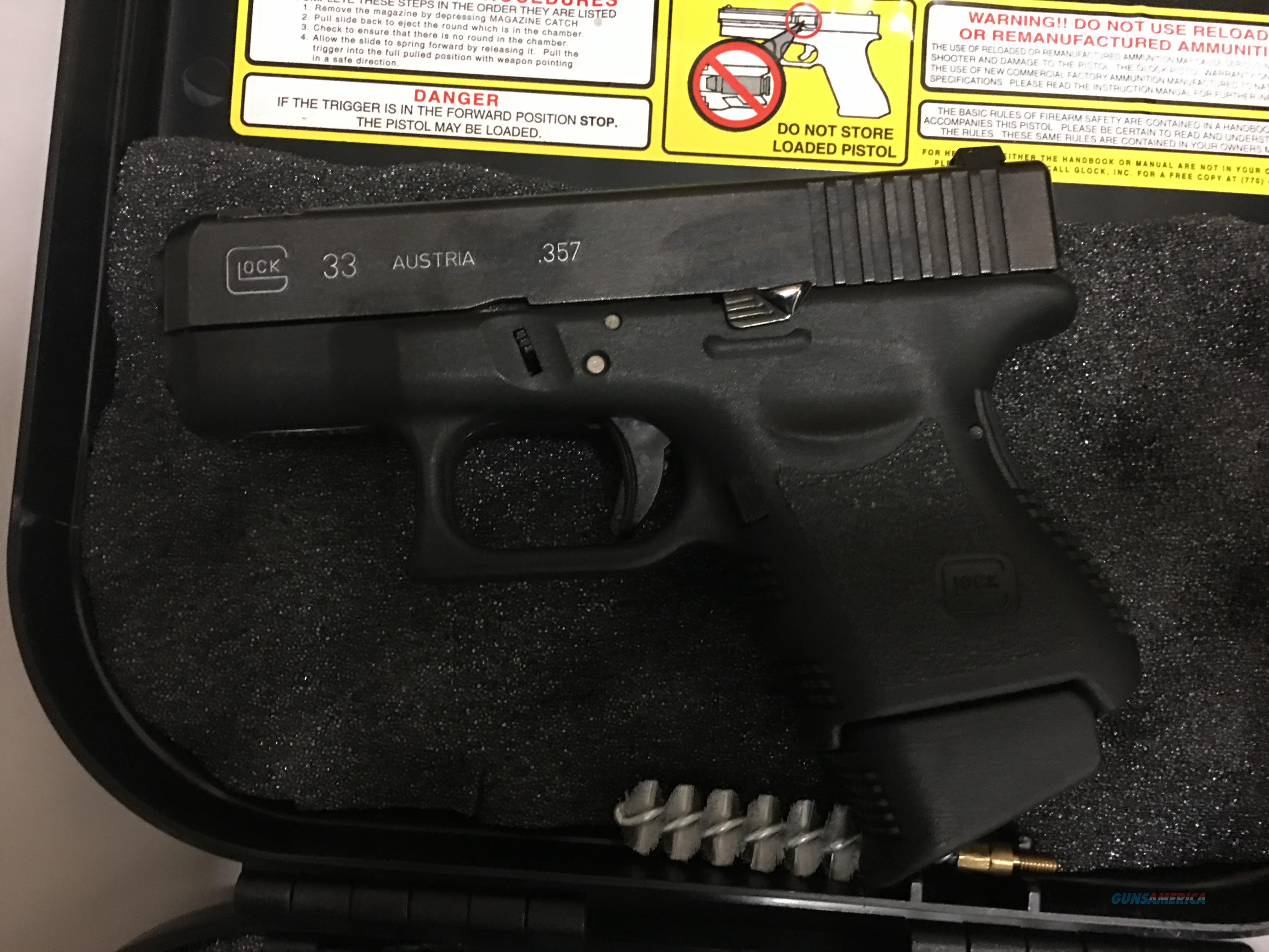 G33 custom ported, night sights, 3lb trigger, extended mag release  Guns > Pistols > Glock Pistols > 31/32/33