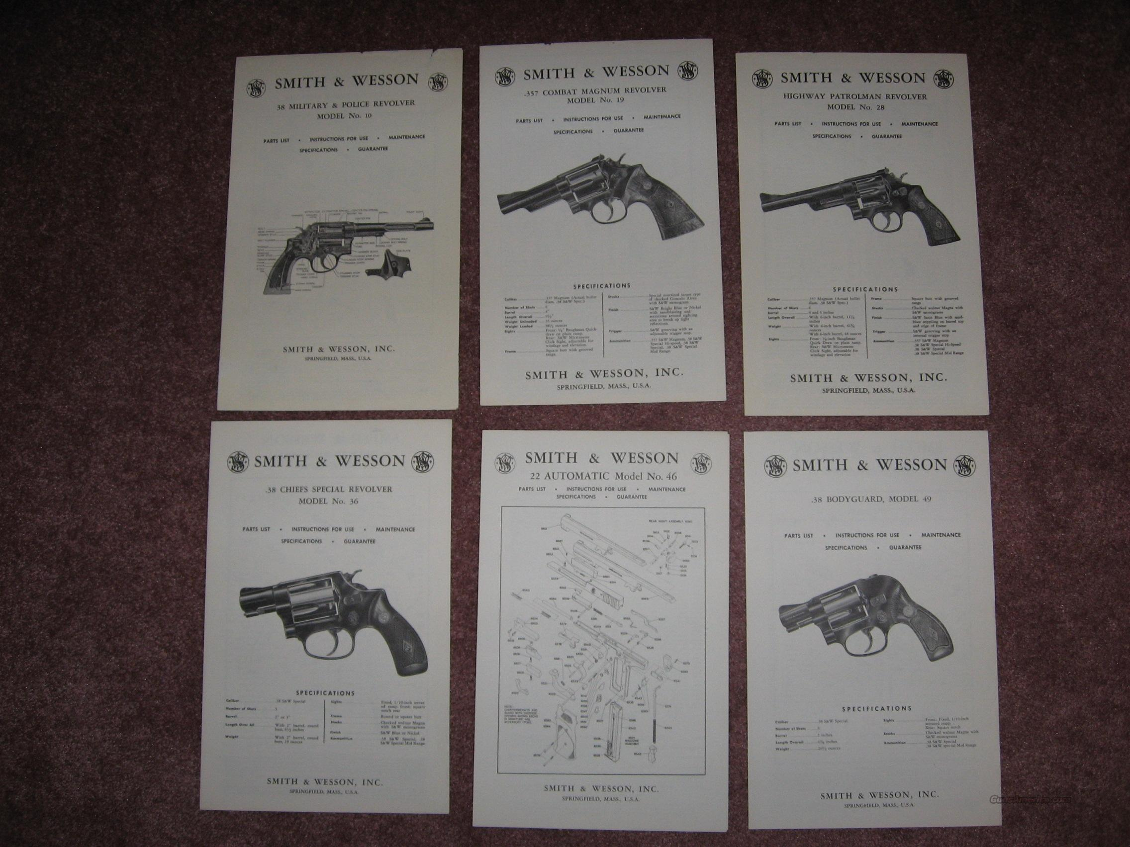 S&W manuals  Non-Guns > Manuals - Print