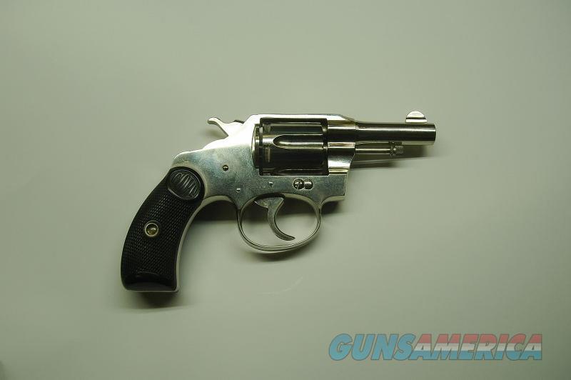 Colt Pocket Positive Nickel 32 LC Mfg 1914 (MINT)  Guns > Pistols > Colt Double Action Revolvers- Pre-1945