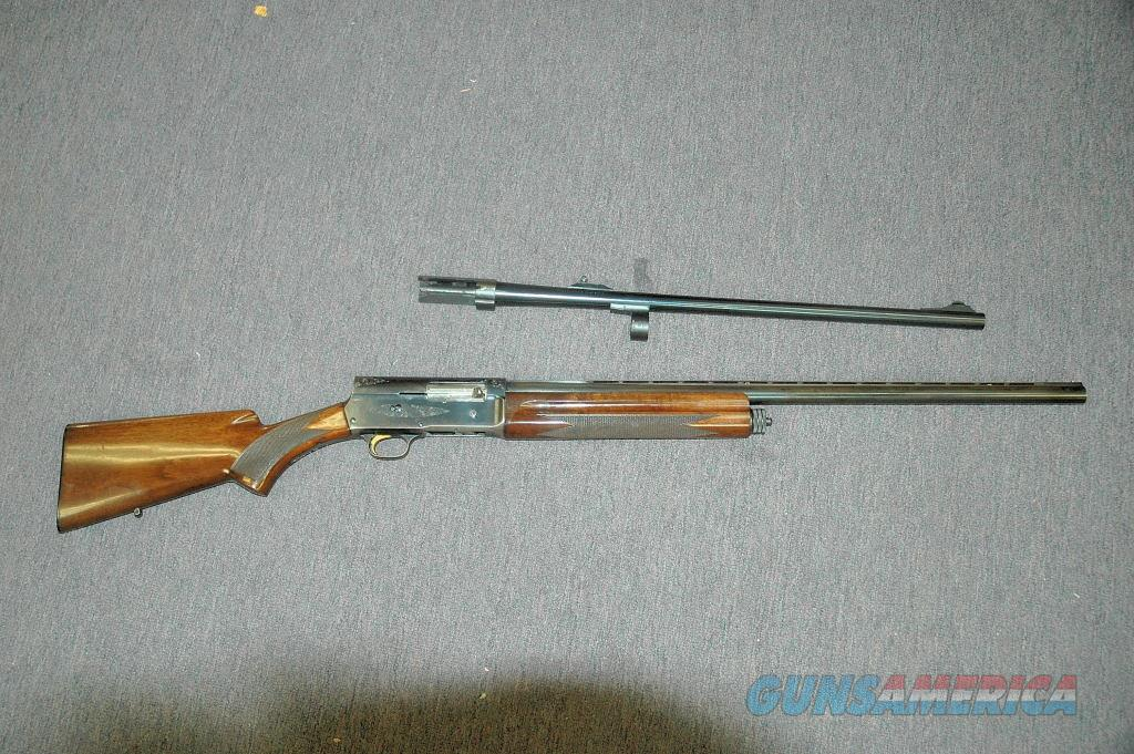 Browning Light 12 w/ 2 Barrels 12 Gauge (Mfg 1975)  Guns > Shotguns > Browning Shotguns > Autoloaders > Trap/Skeet