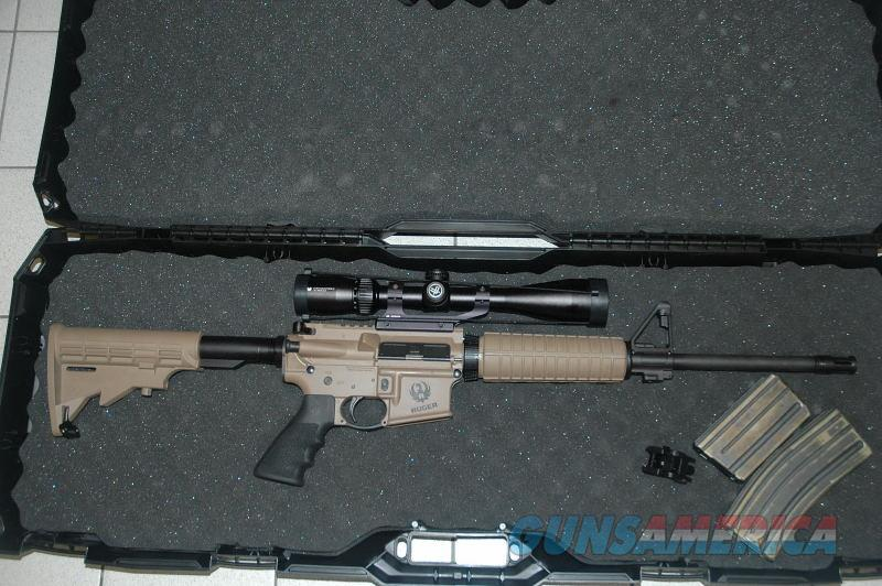 Ruger AR-556 FDE with Vortex Scope Unfired  Guns > Rifles > Ruger Rifles > AR Series