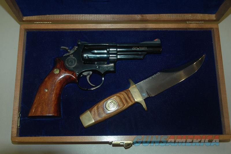 S&W 19-3 Texas Ranger With Knife Mfg 1973  Guns > Pistols > Smith & Wesson Revolvers > Med. Frame ( K/L )