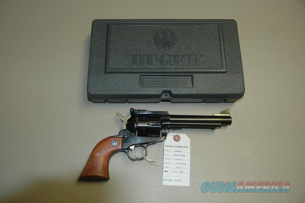 Ruger New Model Blackhawk w/ 2 cylinders 45ACP/LC  Guns > Pistols > Ruger Single Action Revolvers > Blackhawk Type