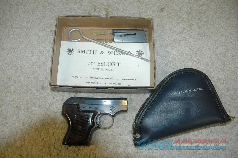 S&W 61-2 Escort W/Box 2 Mags and Pouch  Guns > Pistols > Smith & Wesson Pistols - Autos > .22 Autos