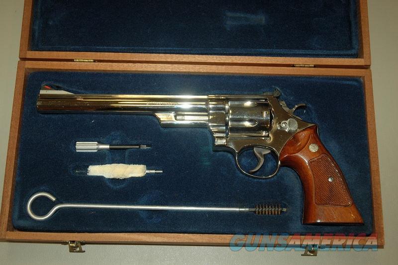 "S&W 29-2 Nickel 8 3/8"" Mfg 1977-78 w/wooden box  Guns > Pistols > Smith & Wesson Revolvers > Full Frame Revolver"